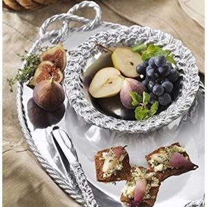 Mariposa Dining - Mariposa rope oval serving tray